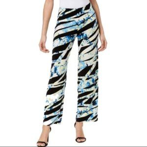 Alfani Black Ribbon Pattern Pants M L XL NWT